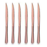 Rose Gold Reflection 6-PC Ultra Sharp Stainless Steak Knives