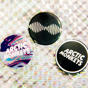 "Arctic Monkeys Buttons! (set of three 1 1/4"" Pin-back Buttons)"