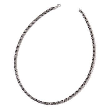"Black Oxidized Stainless Steel Box 24"" Chain"
