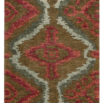 Nourison Tahoe Modern Brown Red Area Rug MTA06 BRNRD (Runner)