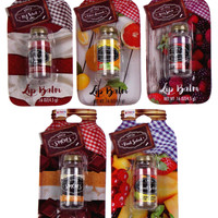 Mason Jars Lip Balm Set of 5 Red Velvet Smores Lemonade Berry Splash Fruit Salad