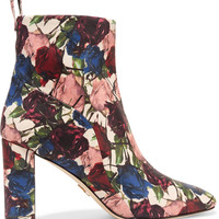 Tess floral-print leather ankle boots | Chelsea Paris | US | THE OUTNET