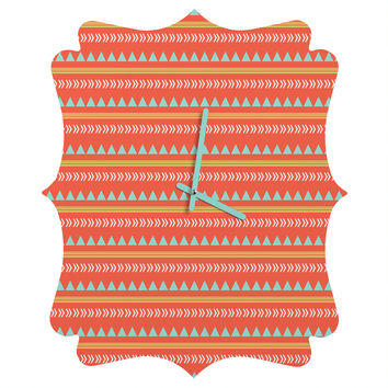 Allyson Johnson Native Aztec Quatrefoil Clock