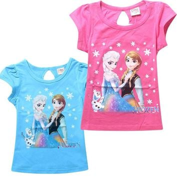 2017 fashion children t shirts for girl cartoon party costume tshirt girls tops and blouses baby t shirt kids t-shirts clothes