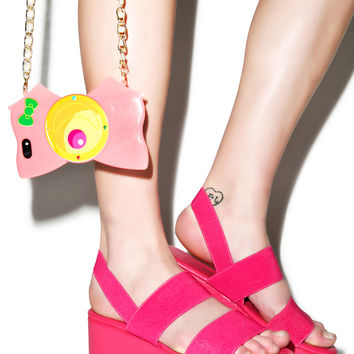Dashin' Dashia Platform Sandals Hot Pink