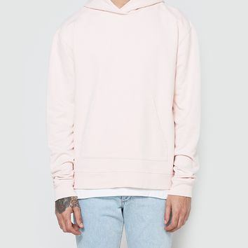 John Elliott / Oversized Cropped Hoodie in Pink