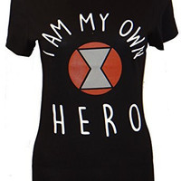 Marvel Black Widow Own Hero Juniors T-shirt