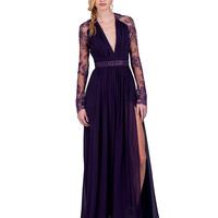 EG1340 Long-Sleeve Lace Evening Gown by Badgley Mischka