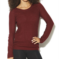 Shaker Stitch Raglan Sweater  | Shop Sweaters at Wet Seal