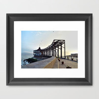 coastline afternoon Framed Art Print by ishyla | Society6
