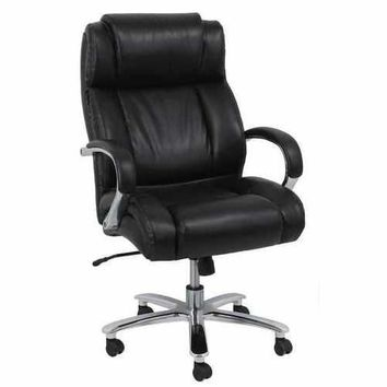 Nola Office Chair with Pneumatic Lift, Black Bonded Leather Match