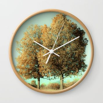 Autumn Trees Wall Clock by ARTbyJWP