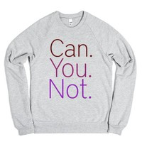 can you-Unisex Heather Grey Sweatshirt