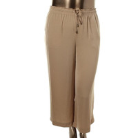 Lauren Ralph Lauren Womens Sateen Wide Leg Casual Pants