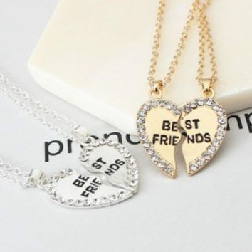 JEWELRY CHOKER Love English Pendant Alloy Ornaments Fashion Two Pencils Best Friends Necklace Good Friends Necklace Choker