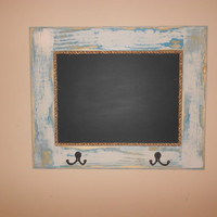 "26"" x 21"" Handmade framed Chalkboard with hangers and keyhooks."