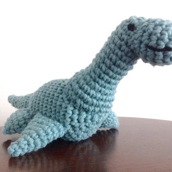 Crochet Dinosaur, Plesiosaur, Plush dinosaur, Dinosaur toy, Stuffed dinosaur, Dinosaur plush toy, Crochet Animal, Loch ness monster, Nessie