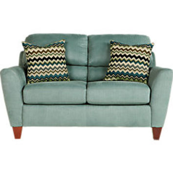 Spencer Place Azure Loveseat