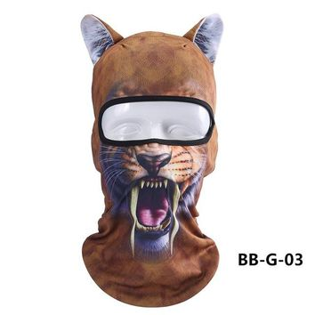 3D Animal Ears Balaclavas Bicycle Cycling Ski Hat Cat Dog Full Face Mask Outdoor Sports Cap