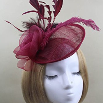 Feather Fascinator Tea Party Derby Pillbox Hat Hair Hood Bridal Hair Accessory