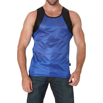 Timoteo Blue Covert Harness Tank Top