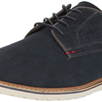 Steve Madden Men's Easel Oxford, Navy Suede, 11.5 M US