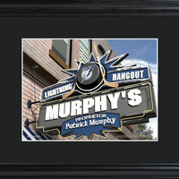 NHL Pub Print in Wood Frame - Lightning