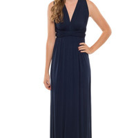 Navy Multi-Way Maxi Dress