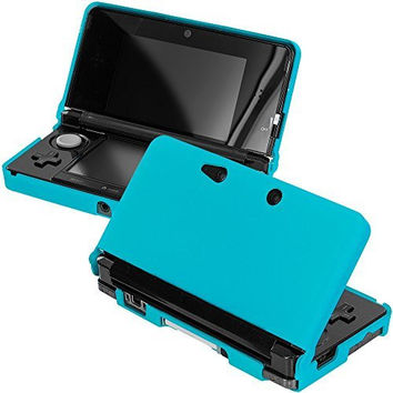 Baby Blue Hard Rubberized Case Cover for Nintendo 3DS