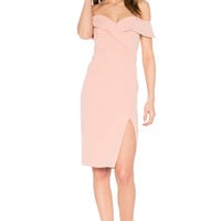 Bardot Bella Midi Dress in Peach