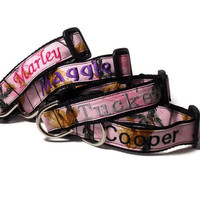 Real Pink Camo Personalized Dog Collar - Realtree