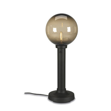 "Moonlite 35"" Table Lamp with 3"" Black Tube Body and Bronze Globe"