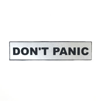Reflective Don't Panic Patch