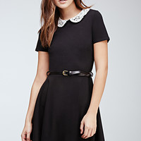 Crocheted Peter Pan Collar Dress