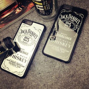 Jack Daniels Mirror Surface Phone Case Hard PC Back Cover for iPhone 5 5S SE / 6 6S / 6 Plus 6S Plus 7 7Plus