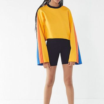The Ragged Priest Sunset Bell-Sleeve Sweatshirt | Urban Outfitters