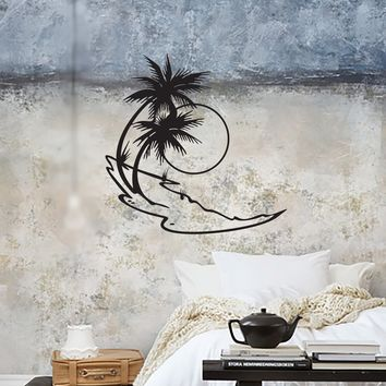 Wall Stickers Vinyl Decal Beach Vacations Relax Palm Island Unique Gift (ig883)
