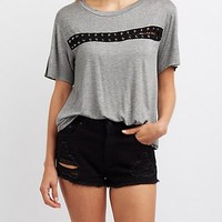 Lace-Up Detail Tee