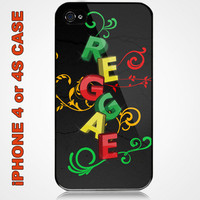 Soul of Reggae Custom iPhone 4 or 4S Case Cover