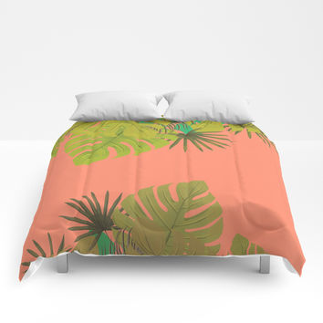 Tropical leaves 02 Comforters by naturalcolors