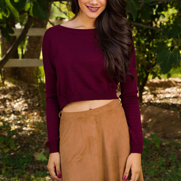 My Girl Suede Skirt - Camel