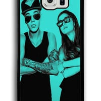 Funny Ariana Grande And Justin Bieber for Samsung Galaxy S6 Hard Cover Plastic