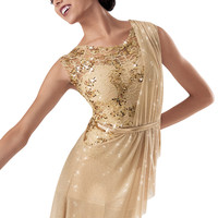 Weissman™ | Sequin Lace Asymmetrical Biketard