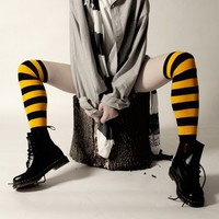 Rugby Striped Overknees
