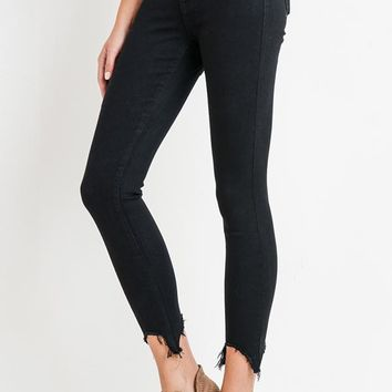 The Button Fly Skinny in Black