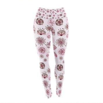 "Marianna Tankelevich ""Cute Stuff"" Pink Illustration Yoga Leggings"