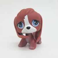 Original 1pc LPS cute toys Lovely Pet shop animal Brown BEAGLE Dog blue eyes action figure littlest doll