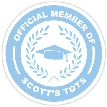 'Scott's Tots' Sticker by breynoldsdesign