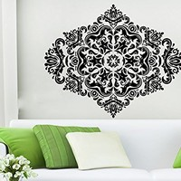 Mandala Wall Decal Vinyl Sticker Decals Lotus Flower Yoga Namaste Indian Ornament Moroccan Pattern Om Home Decor Bedroom Art Design Interior NS532