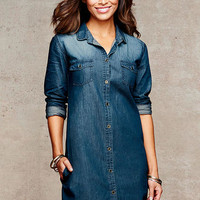 Addy Denim Shirt Dress